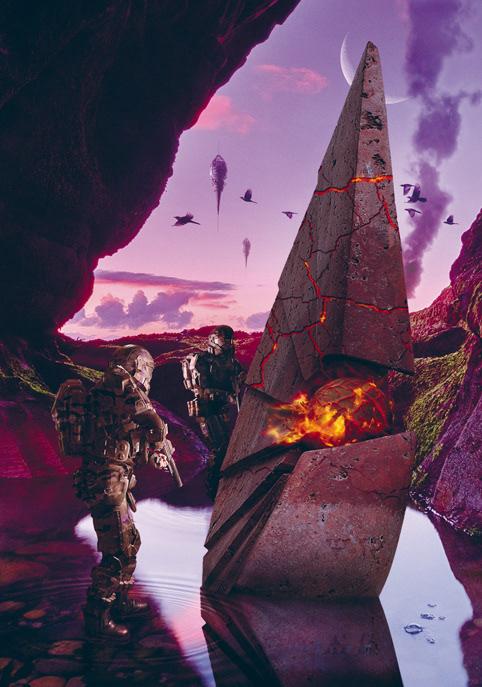 science fiction soldier sunset War