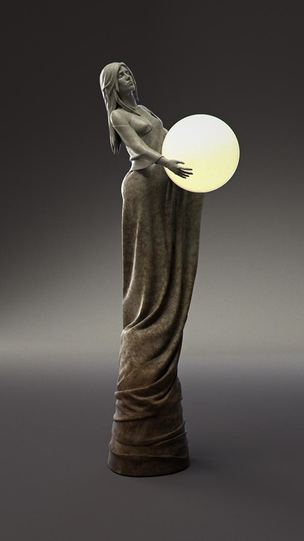 Lamp concept sculpture design Sonne