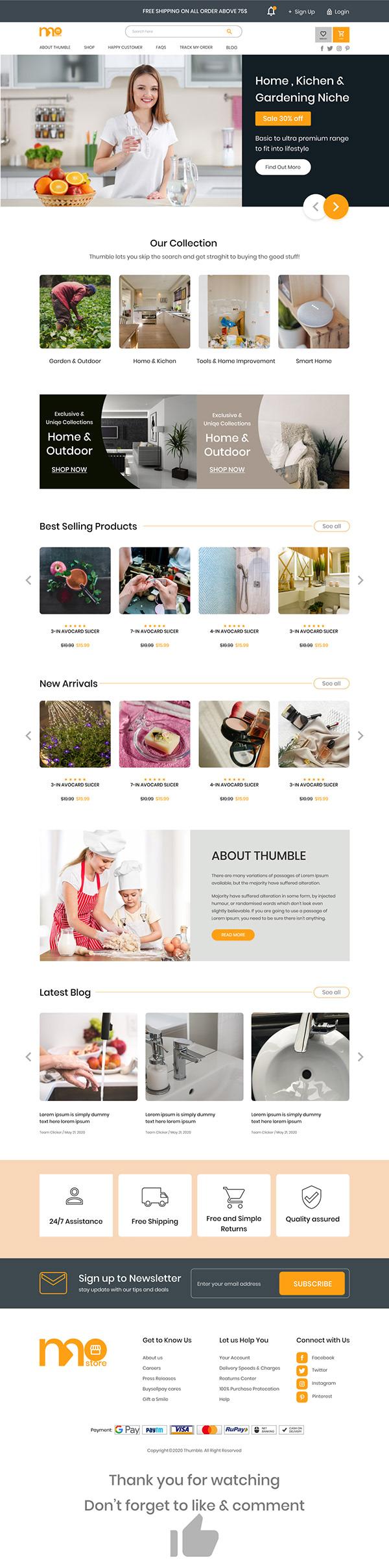 Home & Kitchen Garden website