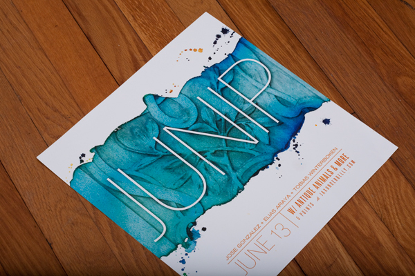 texture watercolor color band poster