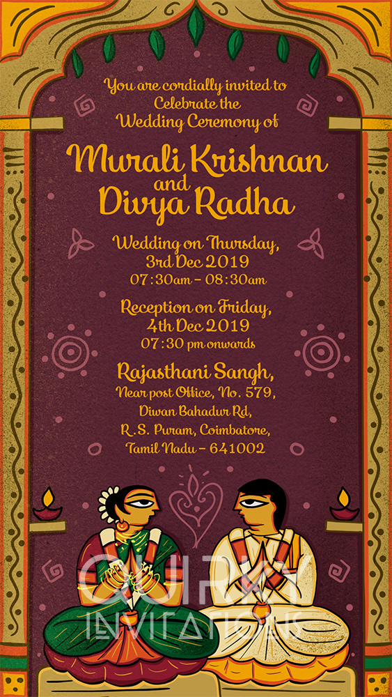 Wedding Invitation Suite Inspired From Bengal Patua On Behance
