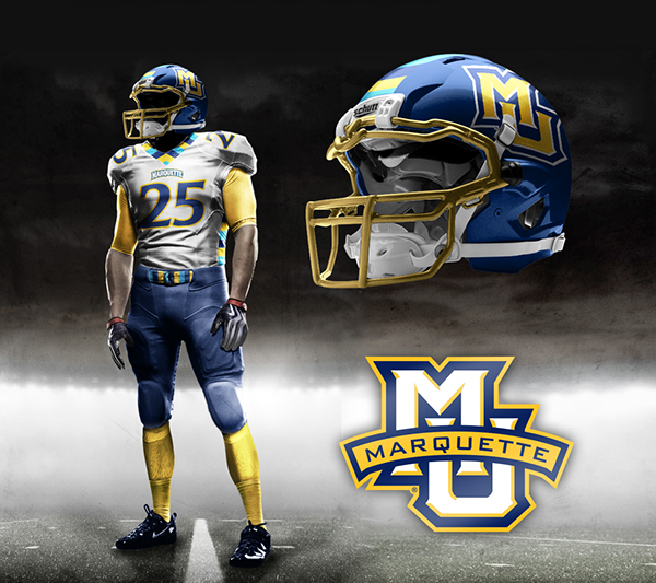 Marquette football concepts on Behance: www.behance.net/gallery/Marquette-football-concepts/11836097