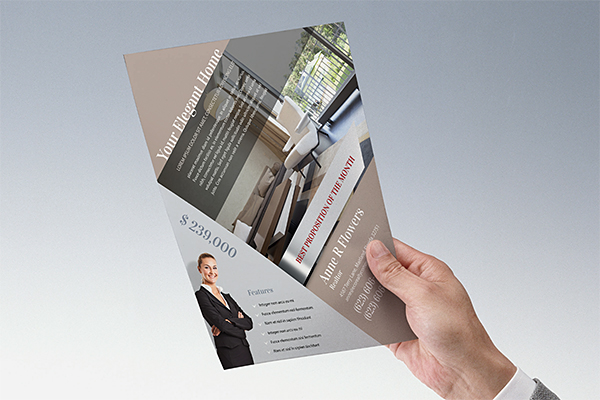 free template real estate flyer folder designs on behance