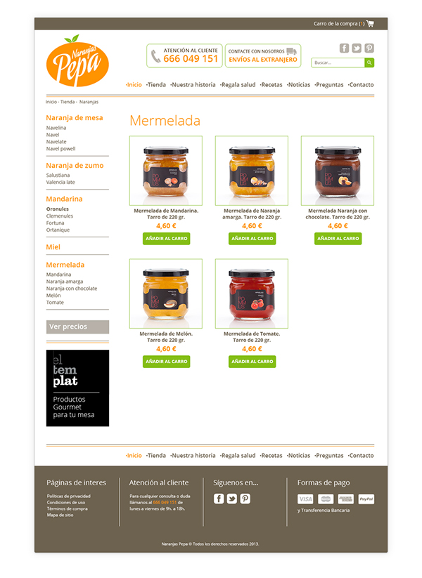 Naranjas Pepa Online Store