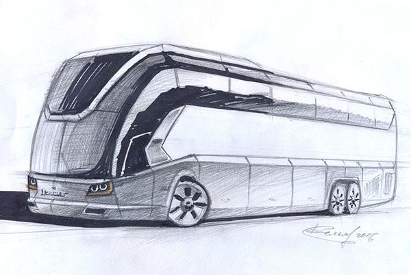 ikarus bus design concept on behance. Black Bedroom Furniture Sets. Home Design Ideas