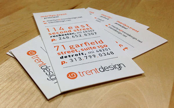 Trent design logo business card on behance thank you reheart Images