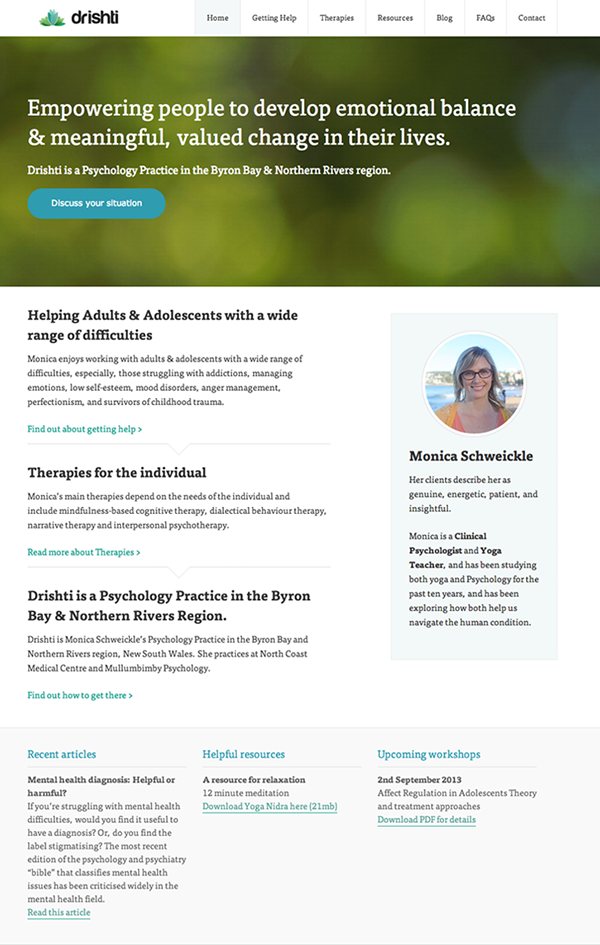 Drishti Psychology Website On Behance
