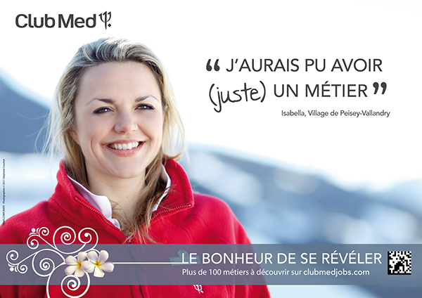 clubmed Advertiding shooting recruitment recrutement campagne Webdesign