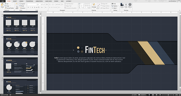 fintech powerpoint design on behance