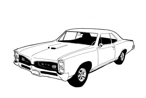 pontiac gto coloring pages coloring pages
