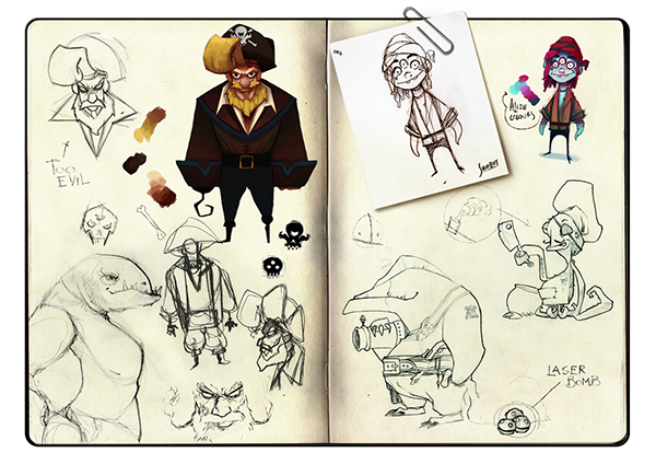 Character Design Rates : Sky pyrates on behance