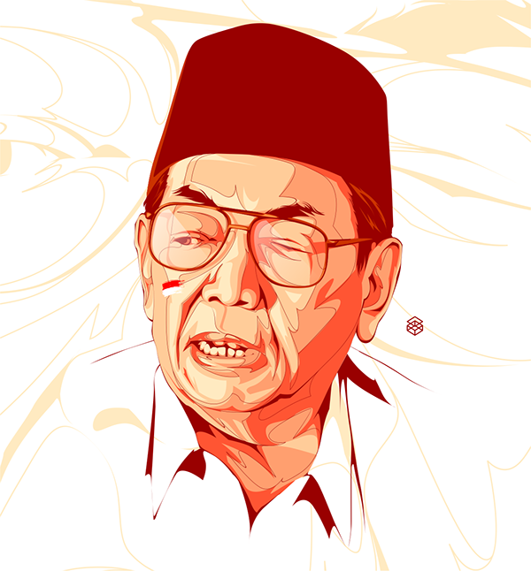 Abdurrahman Wahid , Tracing , Illustration