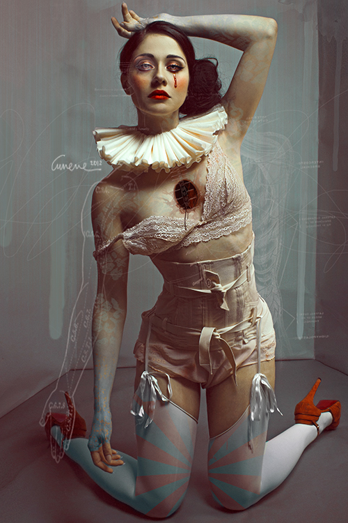 portrait girl woman blood nurse medical bones psycho psychiatric doctor hospital doll broken porcelain dolly