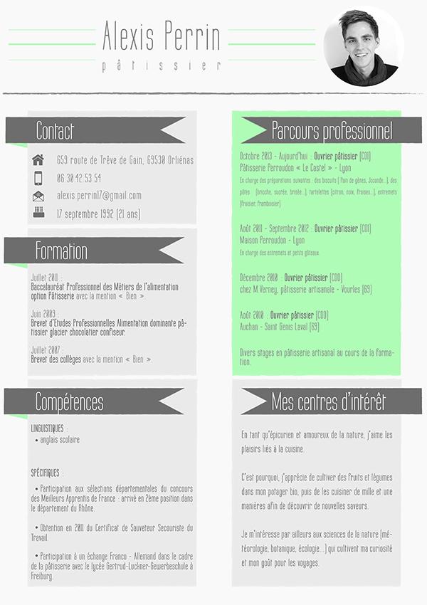 cv alexis perrin original resume on behance