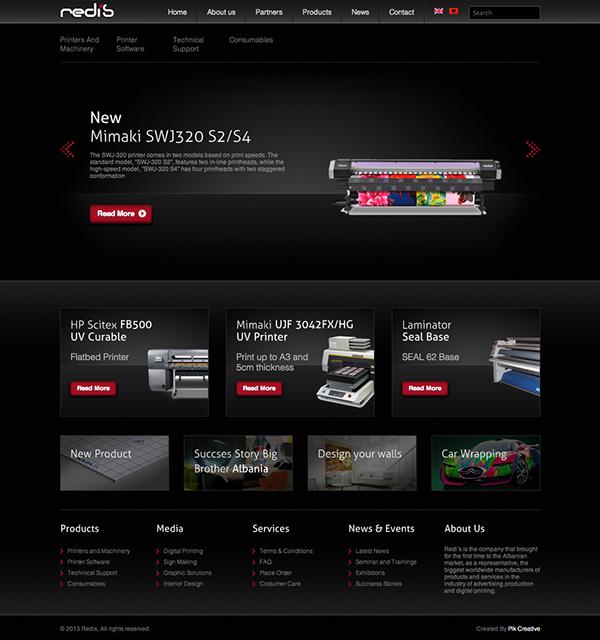 print Albania Tirana Web design development jquery  Html css php wordpress
