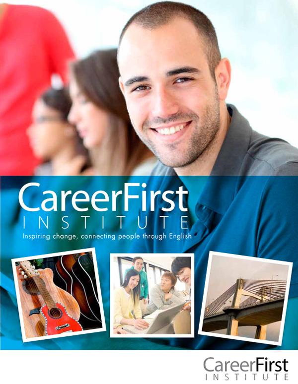 career first institute brochure on behance
