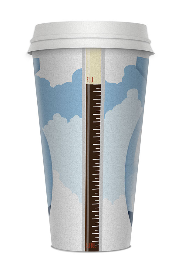 Coffee cup cups bomber Bomber Plane teeth Parachute tile throttle SacNPac