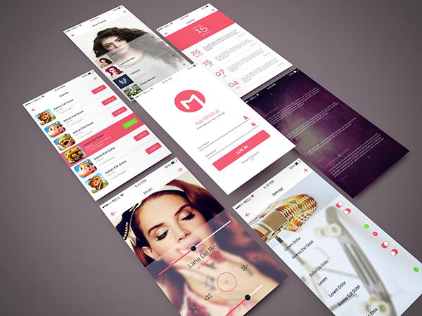 free freebie psd Mockup mock-up app design Isometric screen application mobile showcase Style phone UI