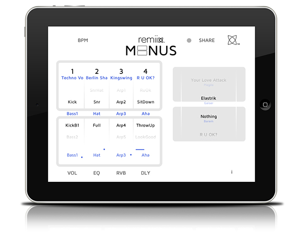 Remiix Liine richie hawtin iphone iPad user interface ui design ios app minimal minus minus record label hawtin mixmag New Horizons richie barbara klein www.remiix.net