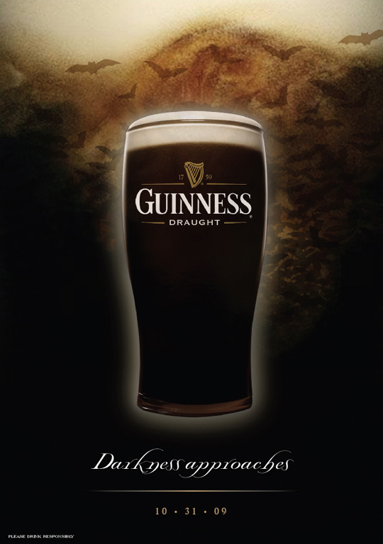 guinness guiness beer alcohol beverage Spirits Halloween Scary seasonal bar on-premise Advertising