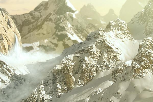 Matte-painting mountain