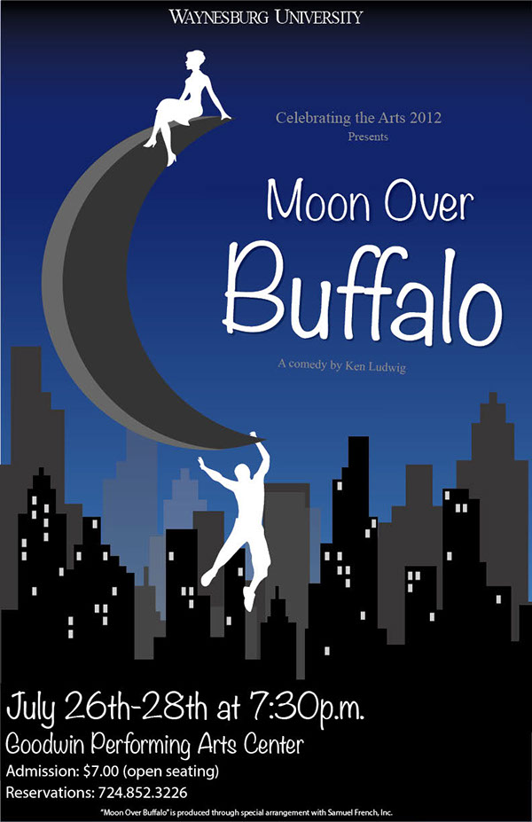 an analysis of the moon over buffalo Moon over buffalo is what a staged comedy should be it is a wild and wacky farce it's waiting for guffman meets noises off meets your favorite shakespeare comedy as performed by the marx brothers be prepared to leave the theater exhausted from laughter - the news tribune, wa videos.