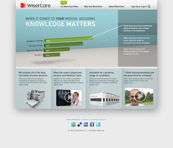 WiserCare Web-Based Health Care Product on Behance