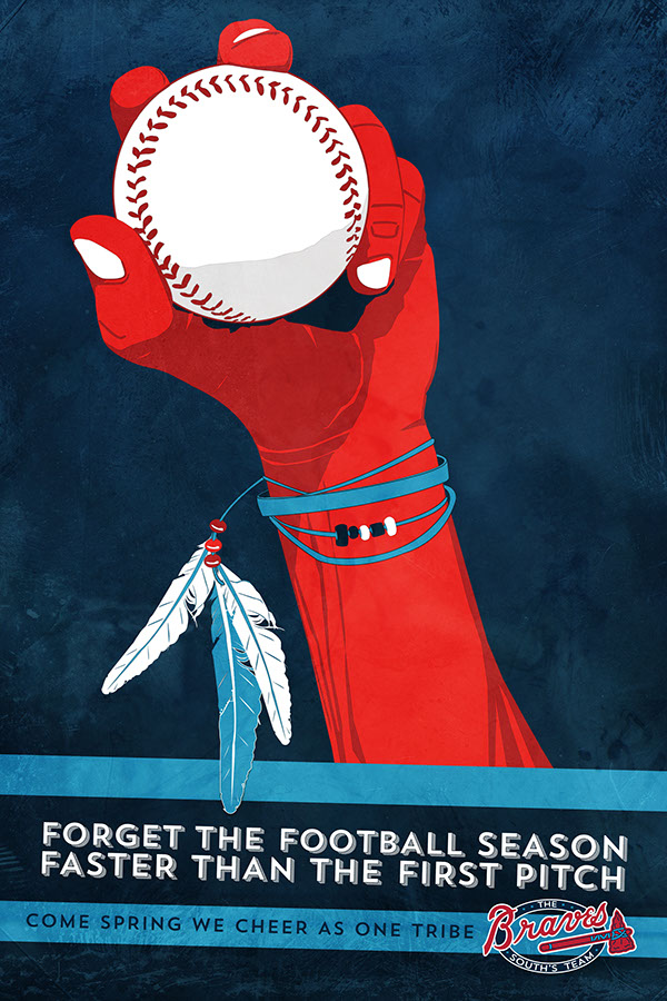 The Braves, baseball, print ads, posters, app, non-traditional