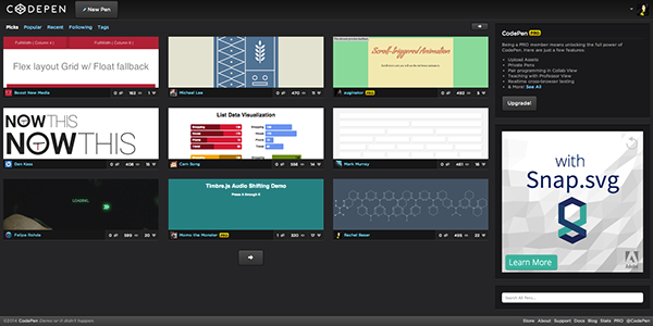 Hex Network Animation on AIGA Member Gallery