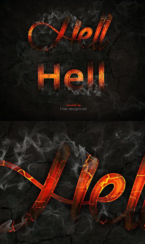Photoshop Text Effects Hell Fire on Behance