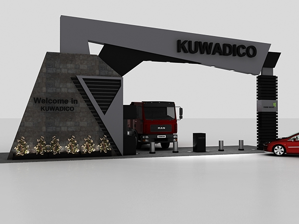 Modern Exhibition Booth : Kuwadico gate on behance