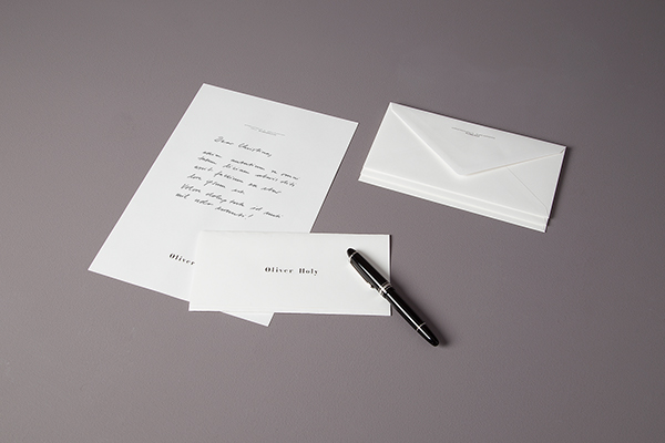 oliver holy letter brief Briefschaft letterhead stationary munich München classicon logo
