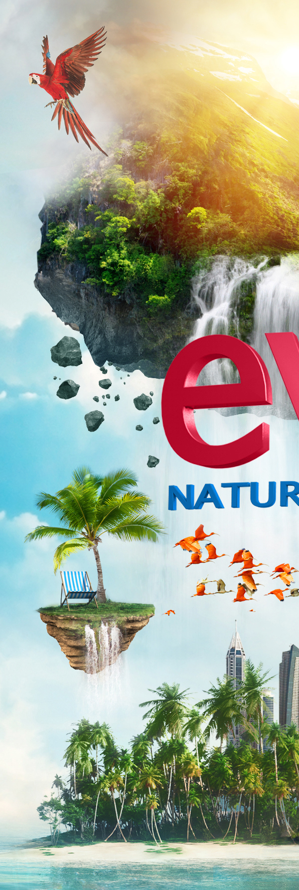 Evian Natural Spring water Evian photoshop howww award CaseStudy