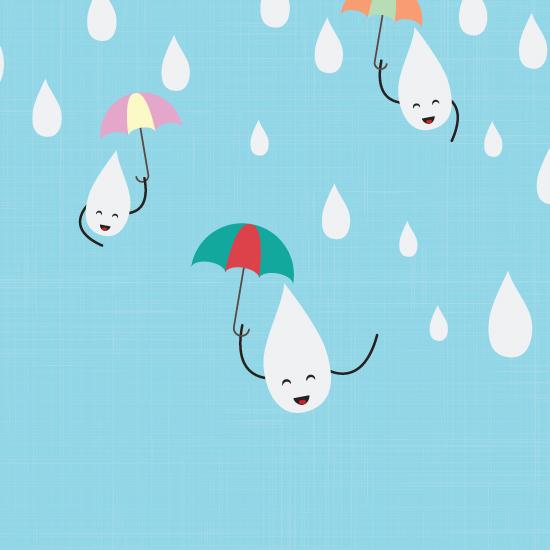 happy raindrops childrens art print on behance