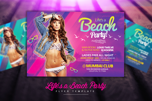 Lifes A Beach Party Flyer Template On Behance