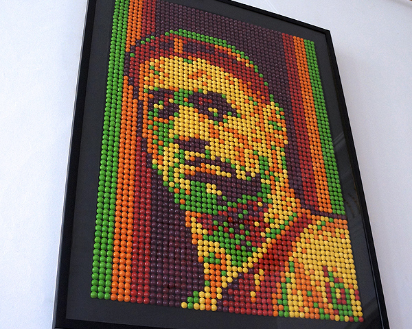 Lebron James made of Skittles on Behance