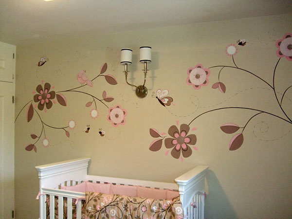 hand painted wall murals on behance. Black Bedroom Furniture Sets. Home Design Ideas