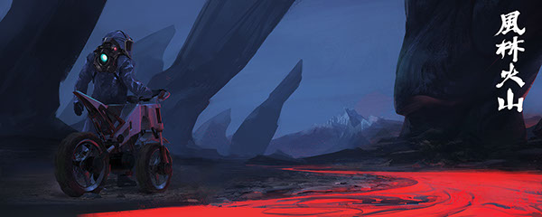 Volcanic motorcycle by Seokin Chung