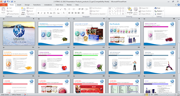 Sample Powerpoint Presentation of USANA Products. This is where the ...