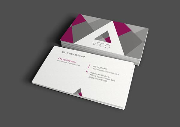 trading vsco visual identity singapore business logo namecards letterhead puzzle triangle purple grey