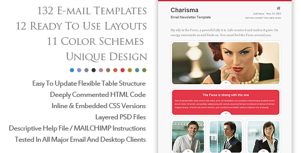 Charismatic Emailer Email Newsletter Template on Behance