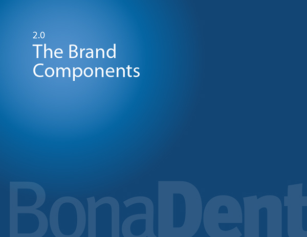 BonaDent Branding Guidelines on Pantone Canvas Gallery