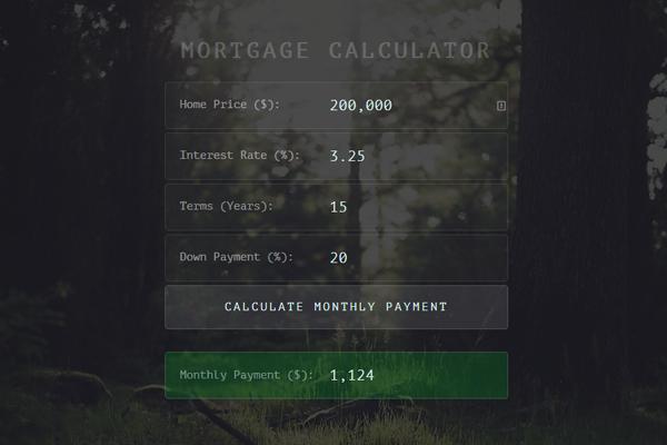 use the mortgage calculator