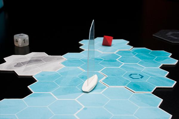 Navigia board game game sailing strategy design bachelor Diagramms illustrations