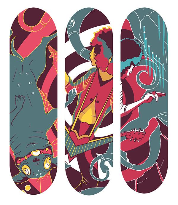 Skateboard Deck Design On Behance