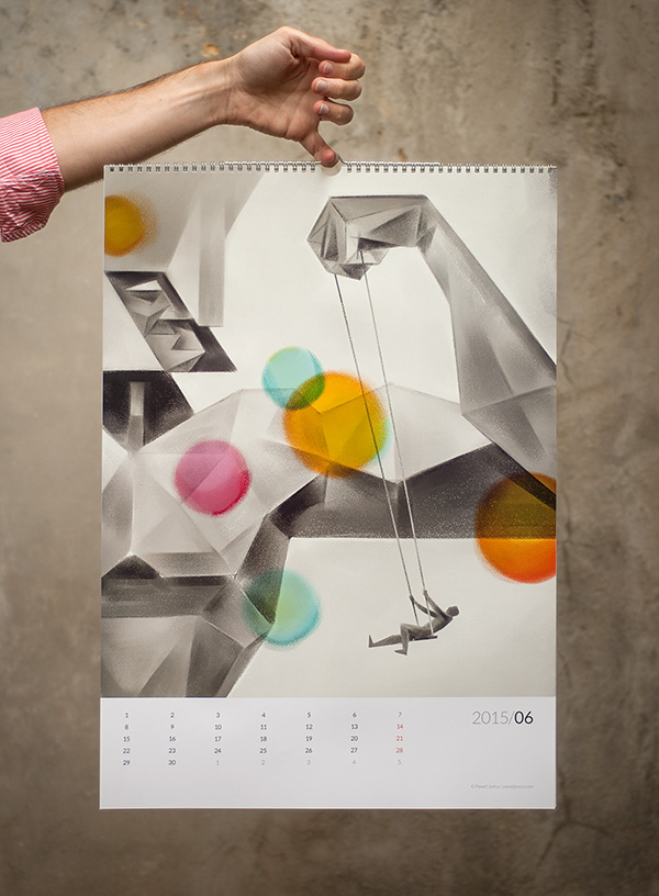 Wall Calendar Graphic Design : Paweł jońca wall calendar on behance