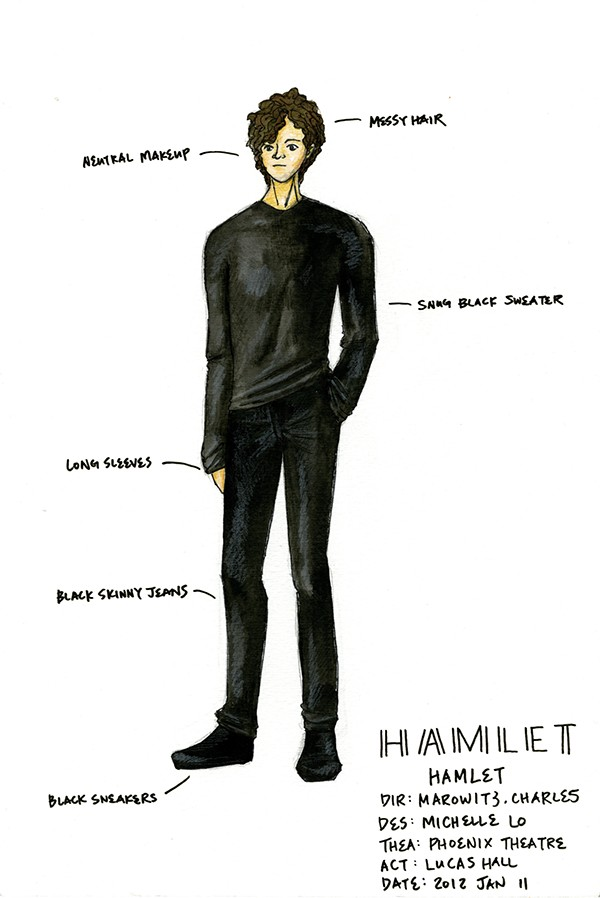 hamlet is a character inside a Characters: hamlet, ophelia, gertrude, polonius, ghost of hamlet's father  defines an itinerary of the gaze, imposing a trajectory inside shakespeare's plays ,.