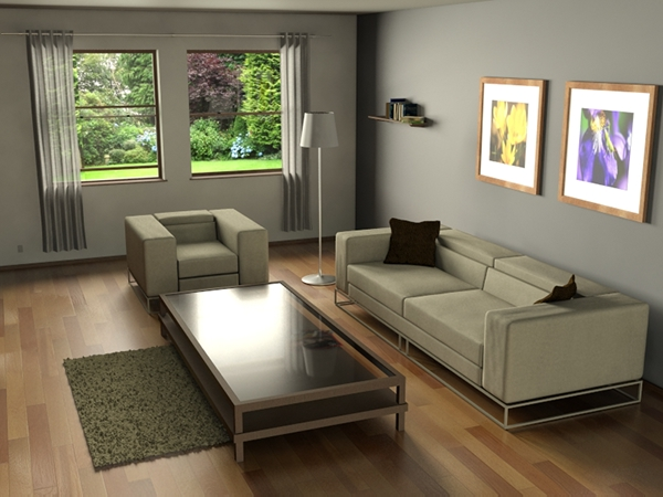 Living room 3ds max on behance for Living room 3ds max