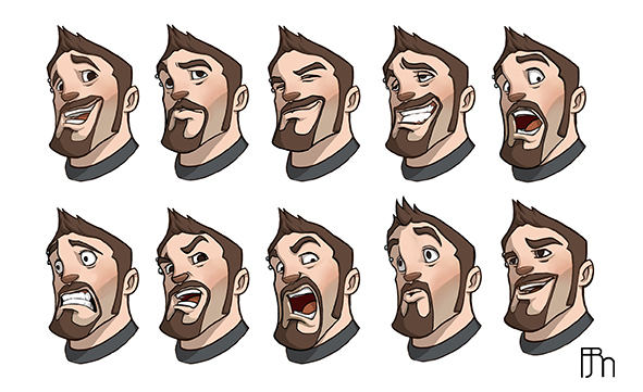 Character Design Expression : Character design expression on behance