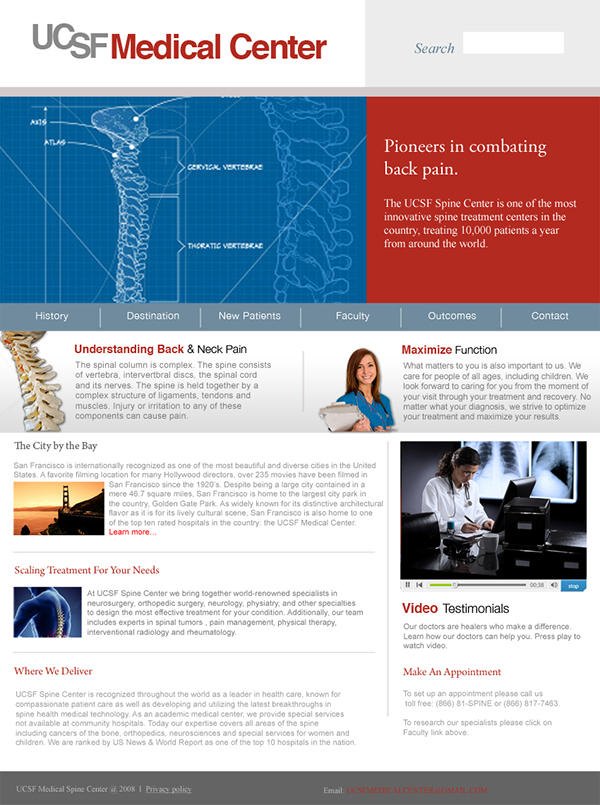 UCSF Spine Center on Behance